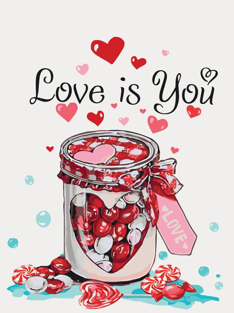 Картина по номерам - Love is you