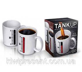 Чашка (кружка) хамелеон с термометром (Tank up), фото 2