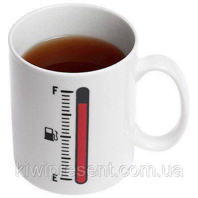 Чашка (кружка) хамелеон с термометром (Tank up)