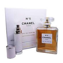 Подарочный набор Chanel No 5 (парфюм 100 ml и атомайзер 7,5 ml)