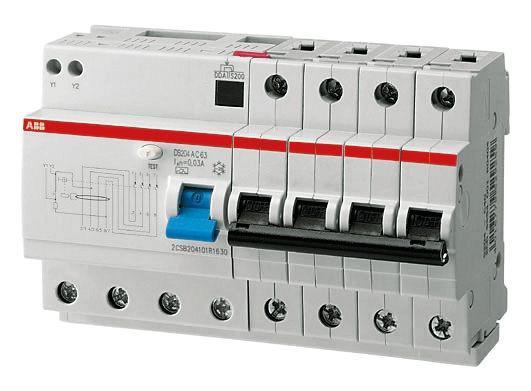Дифференциальный автомат (дифавтомат) ABB DS204AC-C25/0,03, 2CSR254001R1254