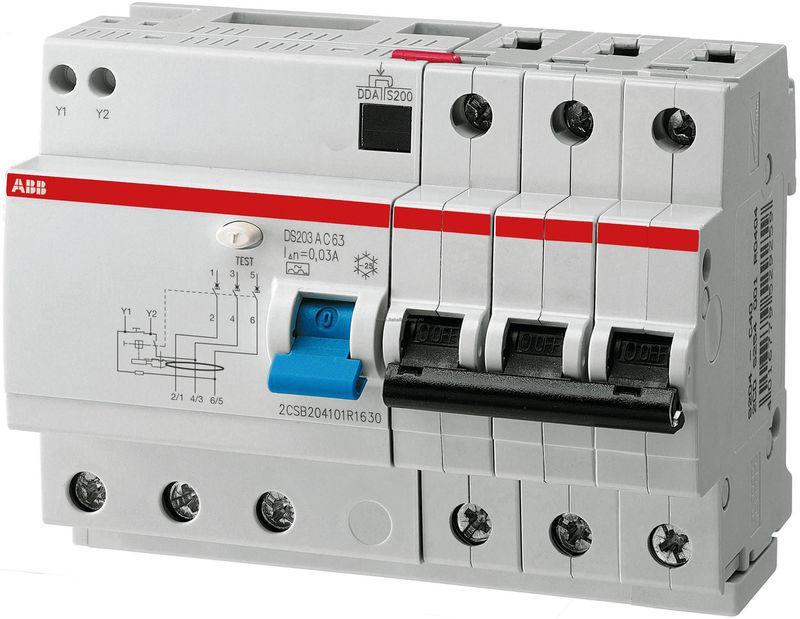 Дифференциальный автомат (дифавтомат) ABB DS203A-C63/0,03, 2CSR253101R1634