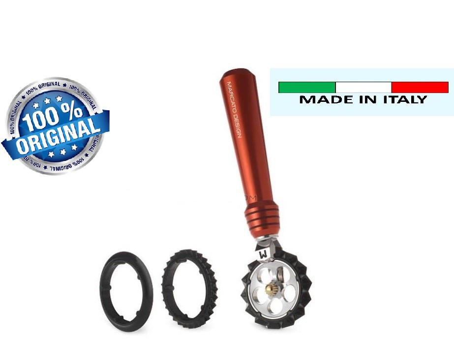 Фигурный нож для теста, лапши Marcato Pastawheel Rosso,красный