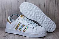 Adidas Superstar White белые женские кроссовки,кеды, фото 1