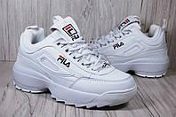 Кроссовки белые на платформе Fila Disruptor, фото 1