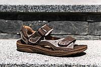 Спортивні світло - коричневі сандалі виготовлені в Польщі - зручне і надійне взуття на літо!