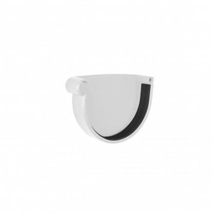 Заглушка желоба левая Rainway 130 Белый, фото 2
