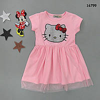 Летнее платье Hello Kitty для девочки. 1-2 года, фото 1