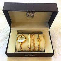 Anne Klein (Реплика).Кварцевые наручные часы в подарочной коробке