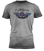 """Оригінальна футболка Top Gun """"Wings Logo"""" Tee TGM1701 (Grey), фото 1"""
