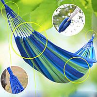 Подвесной разноцветный, хлопковый гамак без планки 4813-3 см, без перекладины, в чехле