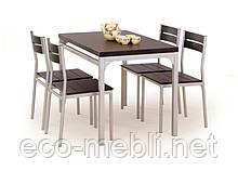 Стіл + 4 крісла Malcolm wenge
