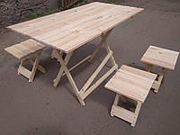 Стол раскладной 100*60см для пикника и 4 стула , фото 1