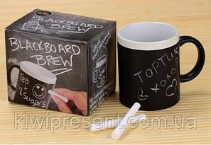 Чашка кружка органайзер черная + 2 мелка, фото 2