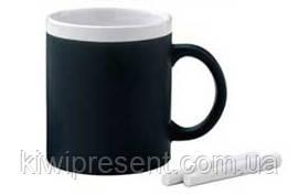 Чашка кружка органайзер черная + 2 мелка, фото 3