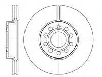Диск тормозной SEAT TOLEDO, SKODA YETI, VW GOLF VI вент. (пр-во REMSA) REMSA 664810 на SEAT LEON (1P1)