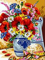 Картины по номерам 30×40 см. Шляпка у вазы с цветами