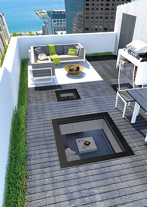 Окно для плоской крыши Fakro DXW 100х100 см, фото 3