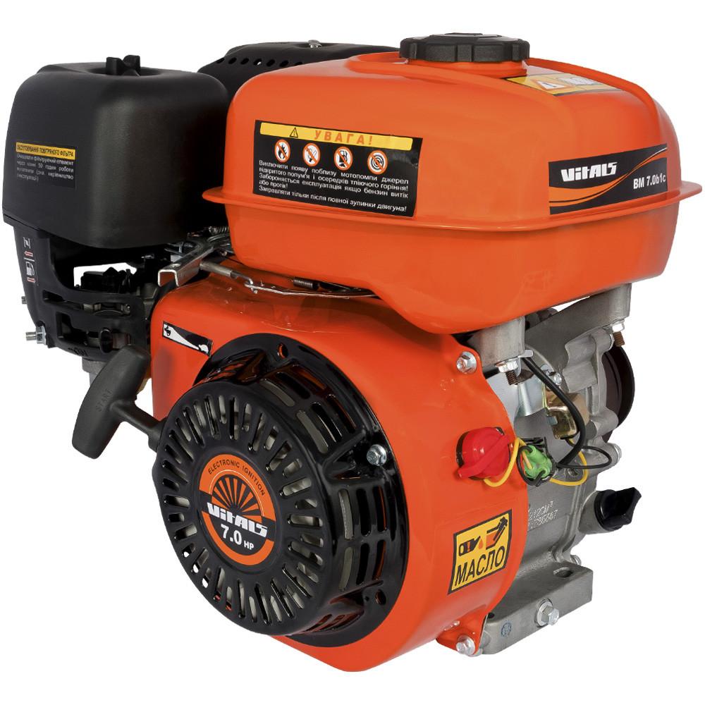 Двигатель бензиновый Vitals BM 7.0b1c (7.0 л.с., шпонка, вал 20 мм)