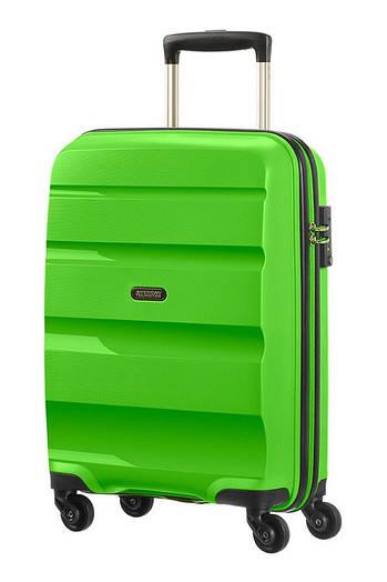 Маленький пластиковый чемодан American Tourister Bon Air на 4-х колесах
