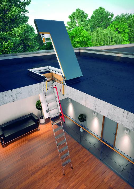 Складная чердачная лестница Fakro LML 70х140 см (280 см), фото 2