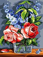 Раскраски для взрослых 30×40 см. Розы
