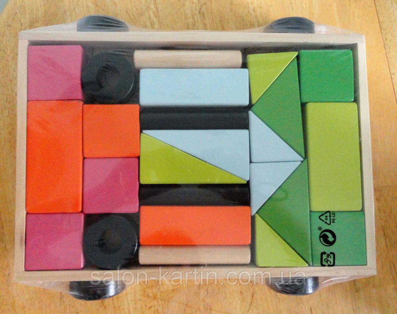 """Эко игрушка-конструктор  """"Прицеп с кубиками"""""""