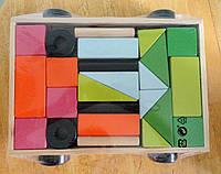 """Эко игрушка-конструктор  """"Прицеп с кубиками"""", фото 1"""