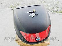 Кофр для мотоцикла (багажник) HF-880 черный мат, фото 2