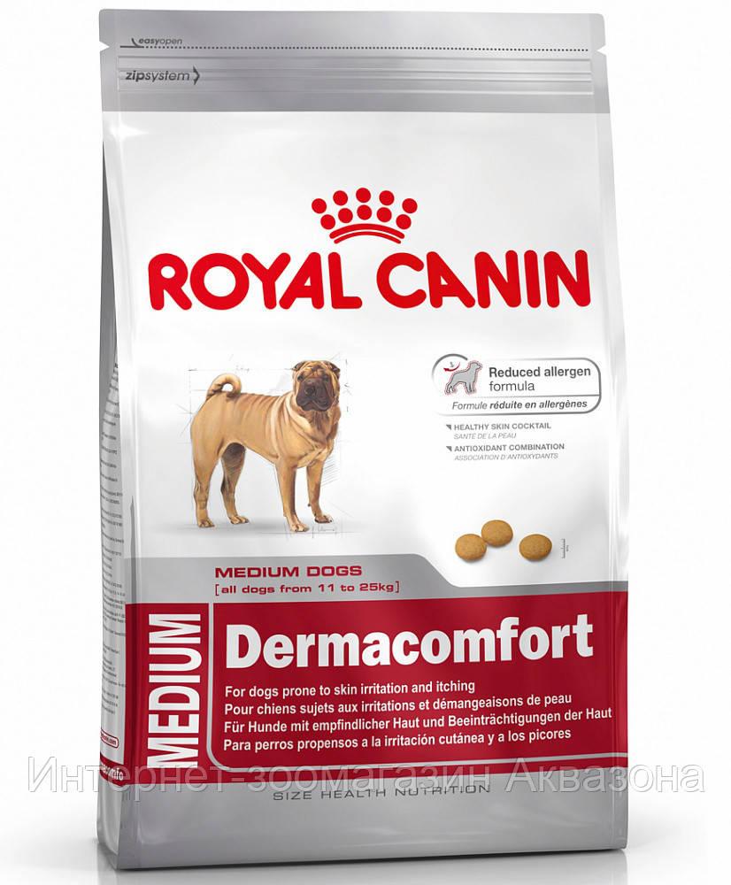 Royal Canin Medium Dermacomfort, для собак с чувствительной кожей 10 кг