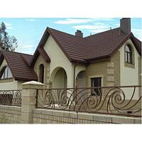 Внешняя отделка фасада дома (штукатурные работы(