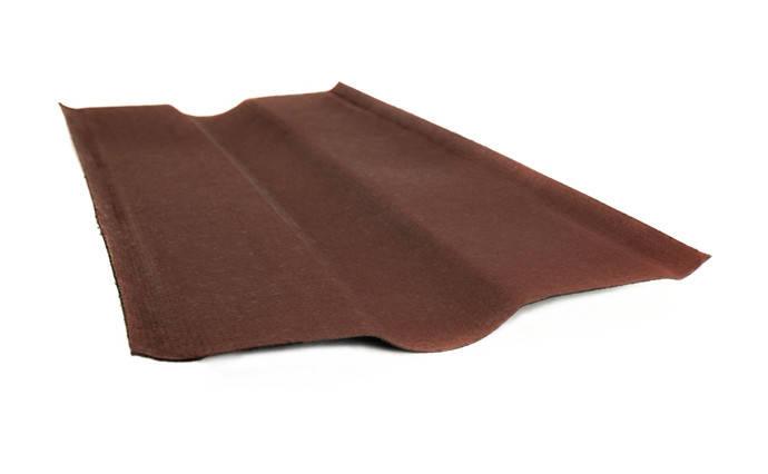 Ендова Черепица Ондулин Onduline Красный 0.36 м х 1 м, фото 2