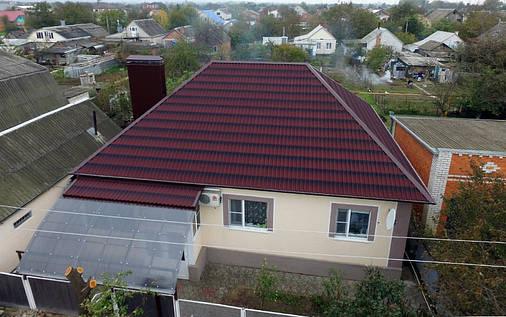 Ондулин Черепица Onduline Красный 0.96 м х 1.95 м, фото 2
