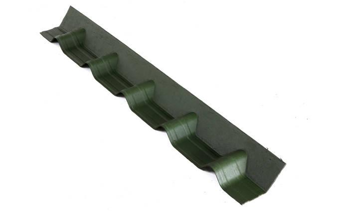 Покрывающий фартук Onduline Ондувилла Зеленый 0.14 м х 1.02 м, фото 2