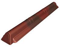 Конек Ондувилла Onduline торцевой Красный 0.194 м х 1.05 м