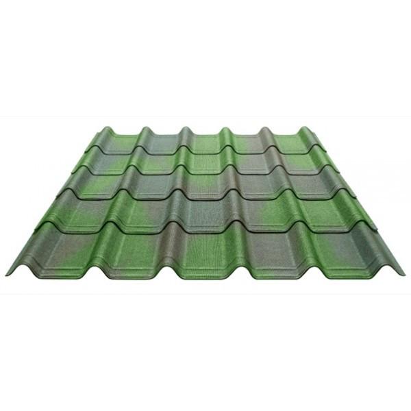 Черепица Onduline  Ондувилла Зеленый 3D 400 мм х 1060 мм (15 листов/упаковка)