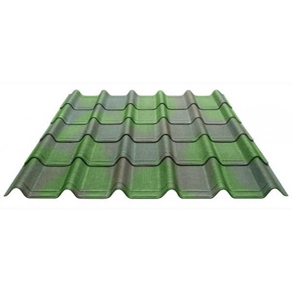 Черепица Onduline  Ондувилла Зеленый 3D 400 мм х 1060 мм (15 листов/упаковка), фото 2