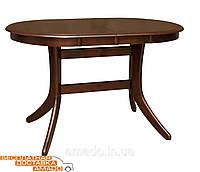 Стол кухонный раскладной Лайза W 1200(+330)*750 (каштан) Domini, фото 1
