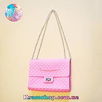 Силиконовая сумка-клатч свело-розовая