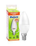 LED лампа DELUX BL37B свеча 7Вт 4100K 220В E14
