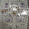 Фоторамка коллаж  часы+дерево 7 фото (5-10*15,2-10*10) белая/бронза WT-118