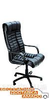 Удобное кожаное кресло на колесах Атлантис Пластик Неаполь N-20
