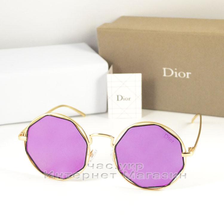 Солнцезащитные очки Dior Круглые зеркальные сиреневые оригинальный дизайн Диор качественная реплика