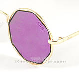 Солнцезащитные очки Dior Круглые зеркальные сиреневые оригинальный дизайн Диор качественная реплика, фото 2