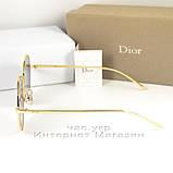 Солнцезащитные очки Dior Круглые зеркальные сиреневые оригинальный дизайн Диор качественная реплика, фото 3