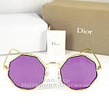 Солнцезащитные очки Dior Круглые зеркальные сиреневые оригинальный дизайн Диор качественная реплика, фото 6