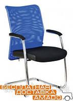 Офисное Кресло Аэро CF хром SM 2327 бок, Неаполь N-20/ спинка сеткая синяя