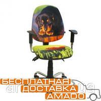 Детское компьютерное кресло Бридж Хром Дизайн №10 Щенок