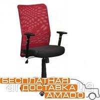 Офисное кресло АЭРО Люкс сиденье Сетка черная,Неаполь 20/спинка Сетка красная
