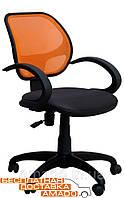 Офисное кресло Байт/АМФ-5 сиденье Сетка черная/спинка Сетка красная